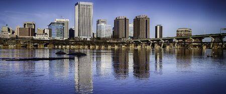 downtown skyline on the James River. Richmond, Virginia