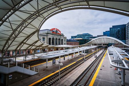 Renovated Union Station in Downtown Denver Colorado.