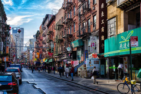 Street view of Chinatown district of New York City, one of oldest Chinatowns outside Asia. Sajtókép