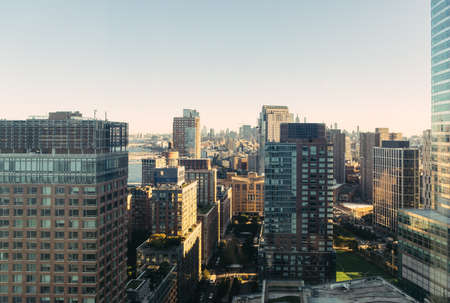 Manhattan landscape with residential and office buildings
