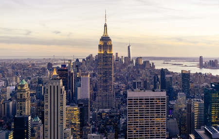 the Empire State Building new york city Editorial