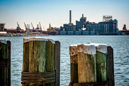 View of Inner Harbor area in downtown Baltimore Maryland USA Éditoriale