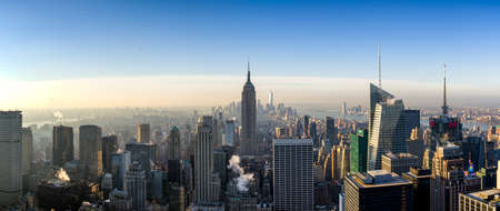 View of New York city and Empire State building from Top of The Rock. Éditoriale