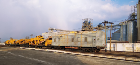 Railroad track tool in railway construction site