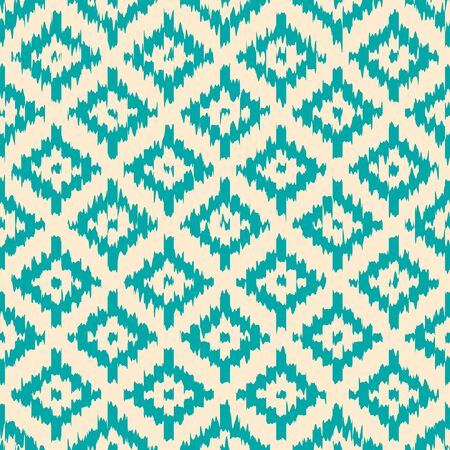 native american art: Colorful geometric seamless pattern made in ikat technique. Seamless background can be used for wallpaper, pattern fills, web page background, surface textures.