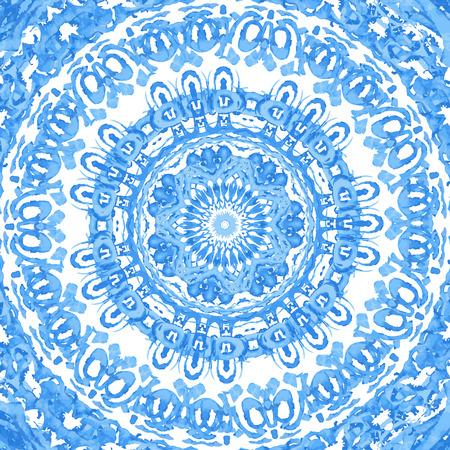 수채화 물감. 털이 라운드 레이스 패턴, 많은 세부 정보와 원형 배경, 수 제 레이스, lacy 아 라베 스크 디자인 크로 셰 뜨개질처럼 보인다. 전통적인 장