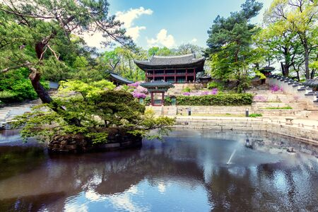Buyeongji pond at the Huwon park, Secret Garden, Changdeokgung palace, Seoul