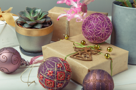 Temari balls, a handicraft ball in traditional Japanese style