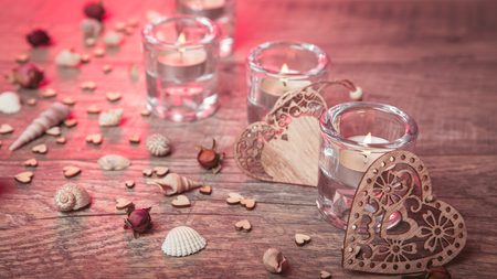Wellness decoration, Spa concept in Valentines Day Stock Photo