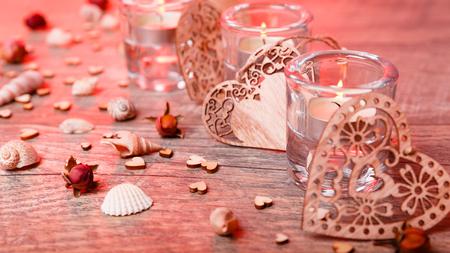 Wellness decoration, Spa concept in Valentines Day Foto de archivo