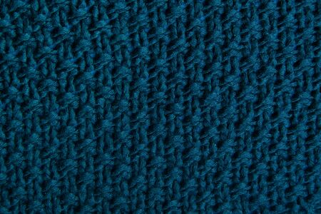 Classic blue fabric blank of canvas, knitwear texture, fabric 2020 fashionable color pattern for clothes Foto de archivo - 136175614
