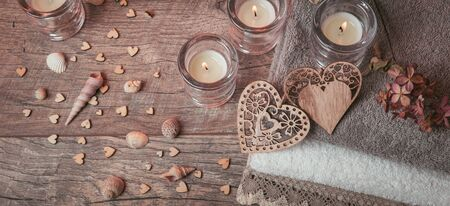 Wellness decoration, Spa concept in Valentines Day Stock fotó
