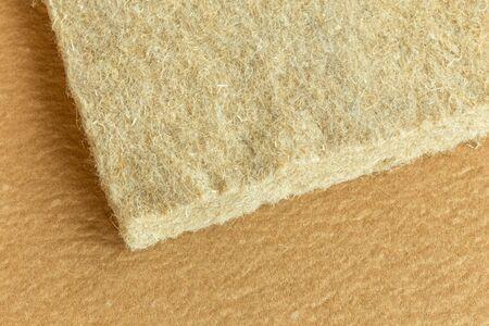materials background - compressed thermal insulating hemp fiber bonded panels Stock fotó