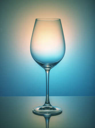 Wine glass on color background, studio shooting