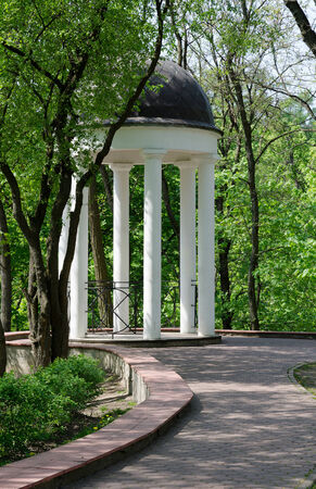 ensemble: Gomel Palace and Park Ensemble, gazebo in the back of the park in May Day