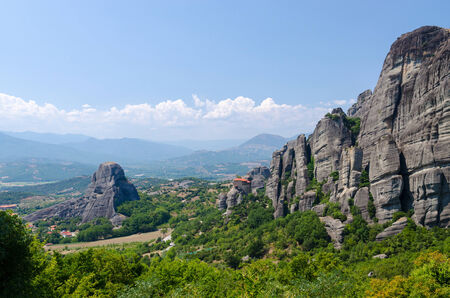 thessaly: Greece, Meteora, beautiful view of the valley of Thessaly