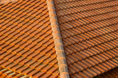 suffusion: Roof tiles made of natural material, background Stock Photo