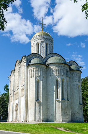 vladimir: VLADIMIR, RUSSIA - AUGUST 21, 2015: Dmitrievsky (Dmitrovsky) Cathedral in Vladimir