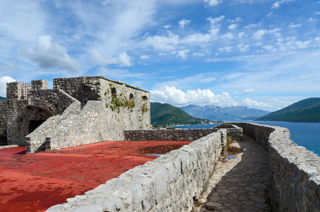 stone wall: The fortress Kanli Kula Bloody Tower, Herceg Novi, Montenegro Editorial
