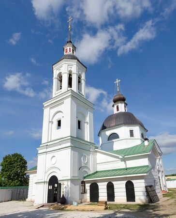 michael the archangel: The restoration of the Archangel Michael temple in village of Lazarevo near Murom, Russia