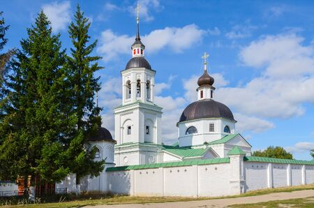 michael the archangel: Bishops metochion of Michael the Archangel Church in the village of Lazarevo near Murom, Russia Stock Photo