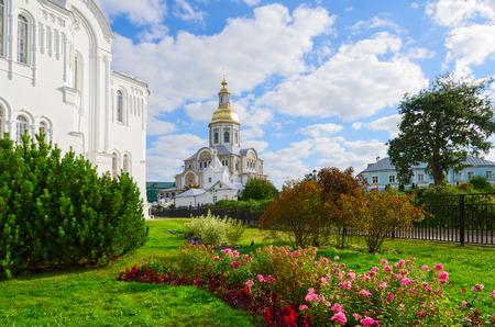 seraphim: Annunciation Cathedral of Holy Trinity Seraphim-Diveevo female monastery in village of Diveevo, Nizhny Novgorod region, Russia