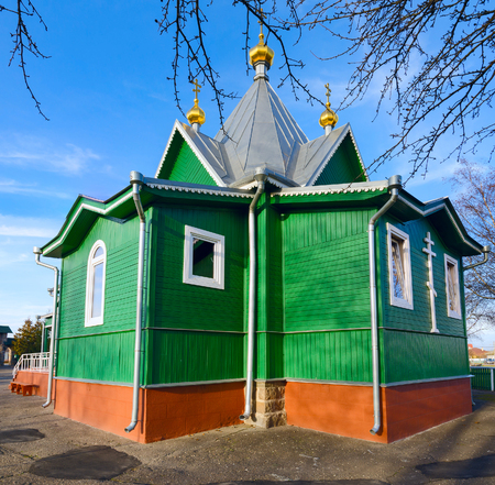 abbot: The temple in honor of the MonkMartyr Athanasius abbot Brest, St. Afanasievskiy Monastery, Brest, Belarus Stock Photo