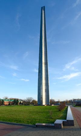 bayonet: BREST, BELARUS - DECEMBER 6, 2015: Bayonet obelisk in the memorial complex Brest Fortress the Hero, Belarus Editorial