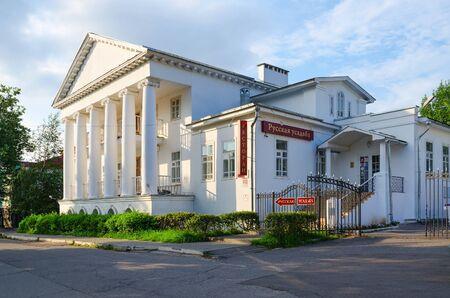 farmstead: UGLICH, RUSSIA - JULY 19, 2016: Restaurant Russian farmstead on street Olga Bergholz 9 (Pereslavtseva House), Uglich, Russia