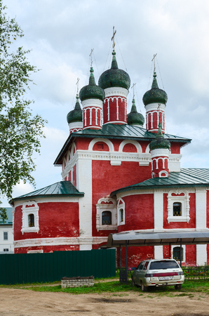 UGLICH, RUSSIA - JULY 19, 2016: Church of icon of Mother of God of Smolensk, Epiphany Monastery, Uglich, Russia