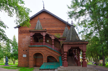 uglich russia: UGLICH, RUSSIA - JULY 19, 2016: Chambers of Uglich feudal princes (built in 1480). Architectural monument of XV century, one of oldest civil buildings of Rus
