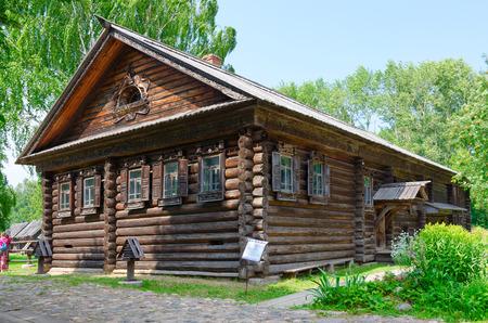 kostroma: KOSTROMA, RUSSIA - JULY 20, 2016: Kostroma Architectural-Ethnographic and Landscape Museum-Reserve Kostromskaya Sloboda. House of Serov from village Mytischi of Makaryevsky district of Kostroma region (1873)