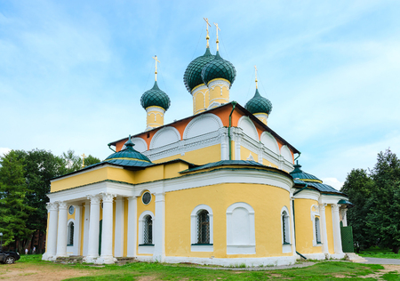 uglich russia: Saviour Transfiguration Cathedral of Uglich Kremlin of old Russian town of Uglich, Russia