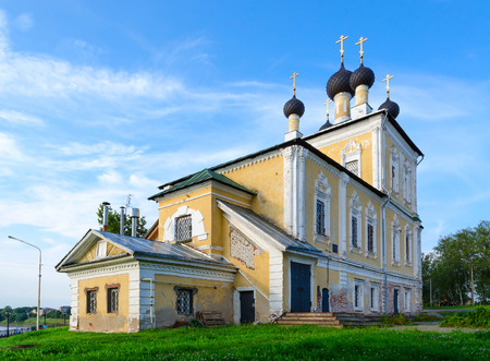 uglich russia: Church of Holy Martyrs Florus and Laurus on river bank, Uglich, Russia
