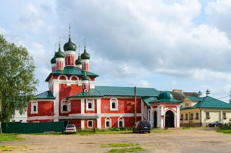UGLICH, RUSSIA - JULY 19, 2016: Church of Icon of Mother of God Smolenskaya, Epiphany Monastery, Uglich, Russia Editorial