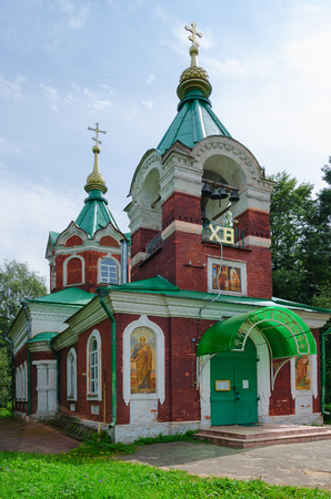introductions: Vvedenskaya Church (Church of Introductions of Mother of God in Temple), Kalyazin, Russia Stock Photo