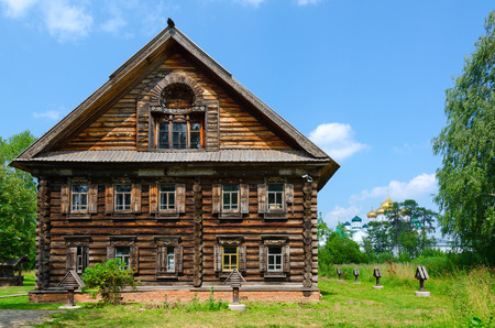 kostroma: KOSTROMA, RUSSIA - JULY 20, 2016: Kostroma Architectural-Ethnographic and Landscape Museum-Reserve Kostromskaya Sloboda. Home of Lipatov from village Zhuravlevo (formerly Kobylino) of Makaryevsky district of Kostroma region