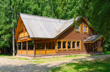 KOSTROMA, RUSSIA - JULY 20, 2016: Kostroma Architectural-Ethnographic and Landscape Museum-Reserve Kostromskaya Sloboda. Restaurant Kostromskaya Sloboda