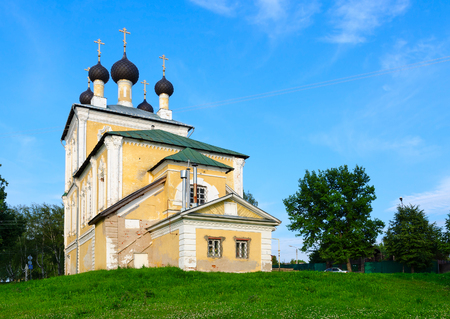 uglich russia: Church of Holy Martyrs Florus and Laurus in old Russian town of Uglich, Russia Stock Photo