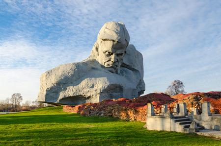 heroism: BREST, BELARUS - DECEMBER 6, 2015: Memorial complex Brest Fortress Hero. Main monument Courage