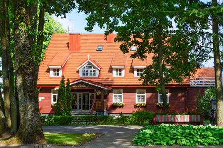 PALANGA, LITHUANIA - JULY 12, 2015: Three star hotel Raze in popular resort town of Palanga, Lithuania