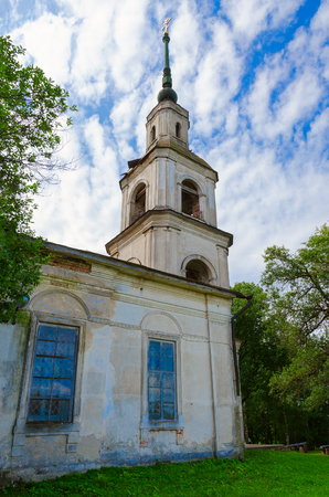Kalyazinsky local lore museum named after I.F.Nikolsky (former Epiphany church), Kalyazin, Russia Stock Photo