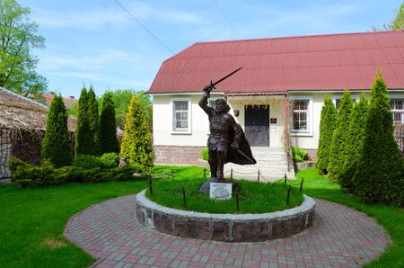 princes street: POLOTSK, BELARUS - MAY 19, 2017: Monument to Polotsk prince Andrey Olgerdovich, Belarus