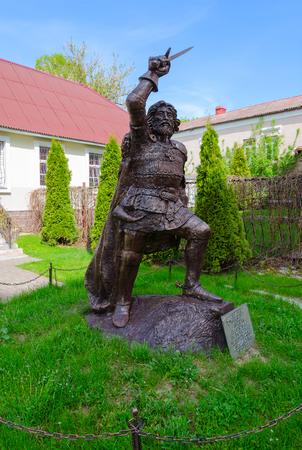 POLOTSK, BELARUS - MAY 19, 2017: Monument to Polotsk prince Andrey Olgerdovich, Belarus