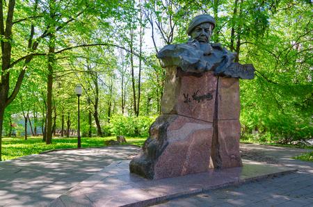 mi: VITEBSK, BELARUS - MAY 23, 2017: Monument to Vladimir Korotkevich (outstanding belorussian writer), Vitebsk, Belarus