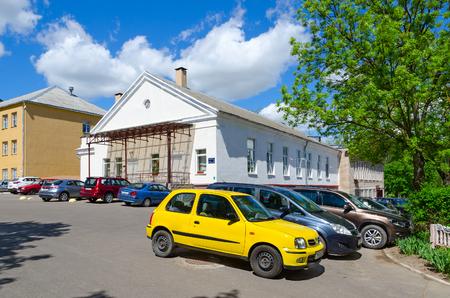 VITEBSK, BELARUS - MAY 25, 2017: Student town of Vitebsk Order Badge of Honor State Academy of Veterinary Medicine (canteen, cafeteria, dormitory number 1), Belarus Editorial