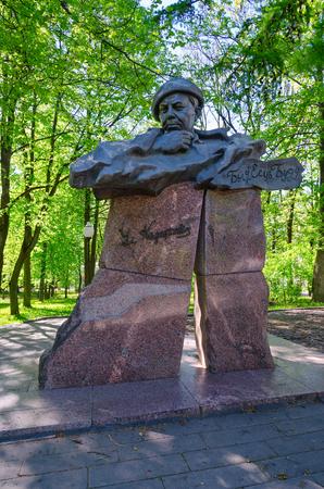 VITEBSK, BELARUS - MAY 23, 2017: Monument to Vladimir Korotkevich, Vitebsk, Belarus
