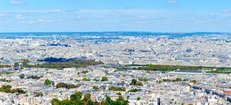 Scenic panoramic view from above (from Montparnasse Tower) on Place de la Concorde, Luxor Obelisk, Tuileries Garden, Paris, France Banco de Imagens