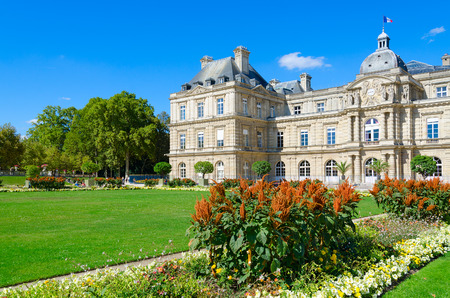 PARIS, FRANCE - SEPTEMBER 7, 2018: Beautiful view of Luxembourg Palace, Paris, France Editorial