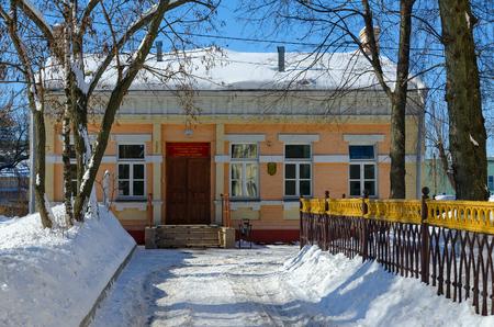 GOMEL, BELARUS - MARCH 5, 2018: State Healthcare Institution Gomel city ambulance station, Belarus